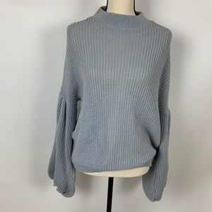 Boohoo Gray Oversize Dolman Sleeve Sweater Small